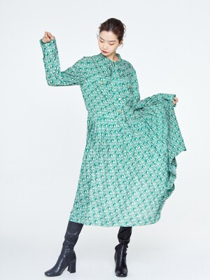 Green Aimons Shirt Dress