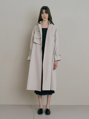 Grey trech coat