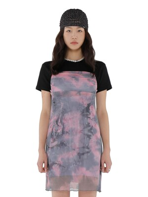 C TIE DYE CAMI SLIP DRESS_GREY