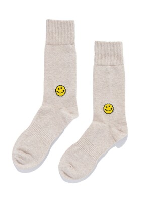 SMILE SOCKS_USA COTTON (NATURAL)