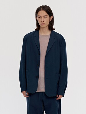 LINEN JACKET MEN [NAVY]
