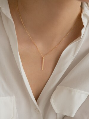 14k gf stick pendant necklace (14k 골드필드)(2type)