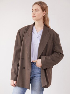 [BE:able] Overfit double jacket - Brown
