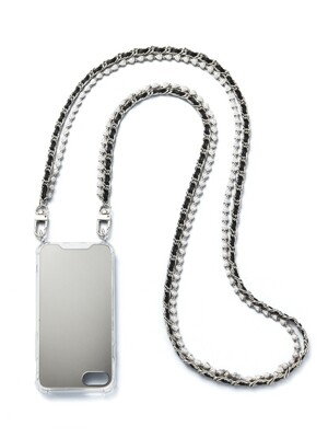 SILVER BLACK PEARL LAYERED CHAIN CASE