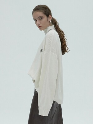 TURTLENECK KNITWEAR - CREAM