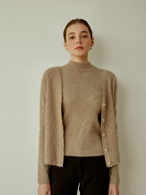 Fox Knit Cardigan SET[beige]