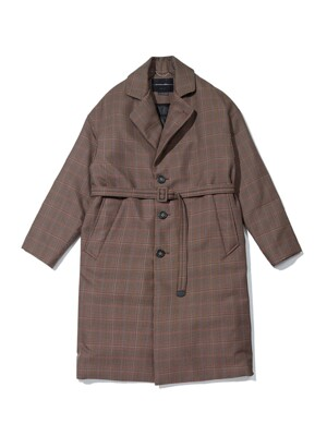 [black label] oversized check belted down coat_CLCAW19854BRX