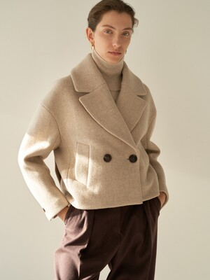 TTW TUCK WOOL HALF COAT 2COLOR