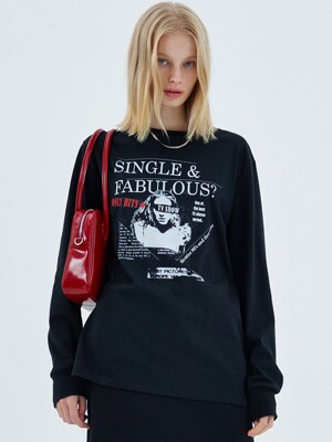 SINGLE & FABULOUS T-SHIRT, BLACK