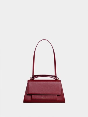 MATIN I CLUTCH IN BURGUNDY