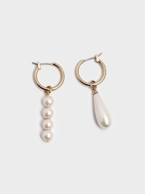UNBAL PEARL RING EARRINGS