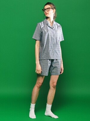 (W) Julia Short Sleeve PJ Set Glen Plaid