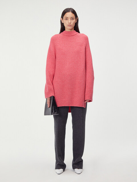 OVERSIZED LONG SLEEVE SWEATER (PINK)