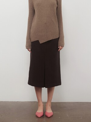 A WOOL TUCK SK_BROWN