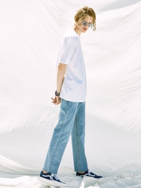 V244 PANEL WIDE DENIM PANTS_BLUE