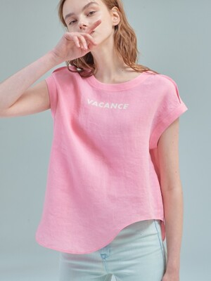 Drawing curve top [Blossom pink]