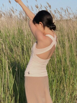 X Back Tank Top-Pale Pink
