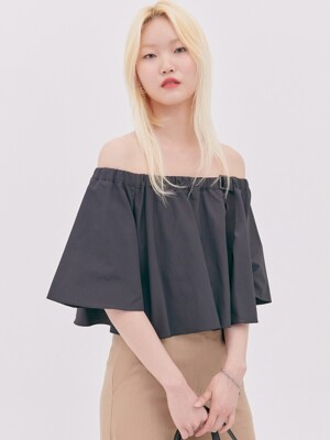 OFF-SHOULDER BLOUSE-BK