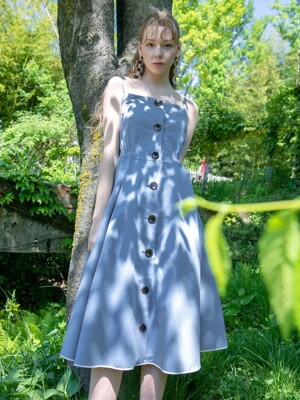 Smocking dress gray-bl