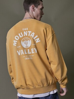 MOUNTAIN VALLEY PIGMENT SWEATSHIRT YELLOW