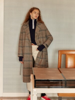 Reversible Handmade Coat in check_VW9WH0490