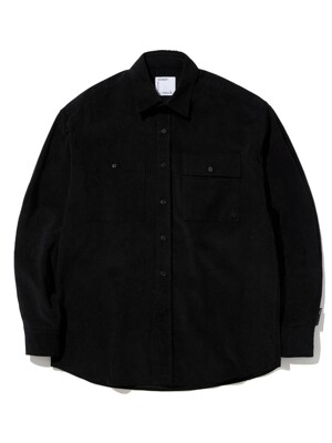 SEMI OVER FIT CORDUROY SHIRTS_BLACK