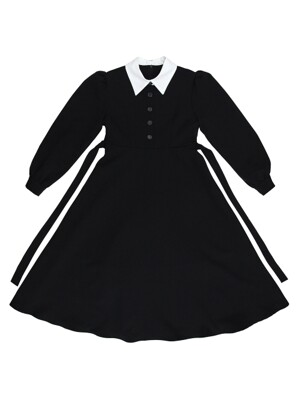 COLORATION COLLAR ONE-PIECE BLACK