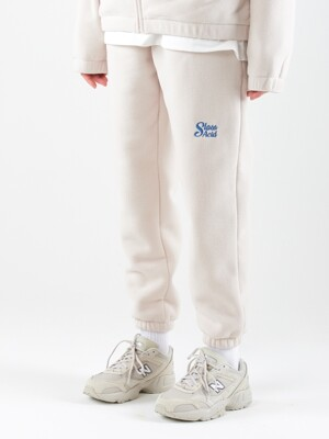 19WT Heavy Fleece Traning Pants (IVORY)