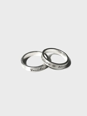 [이니셜 각인] TH1908 Semi Matte Basic Seal Ring
