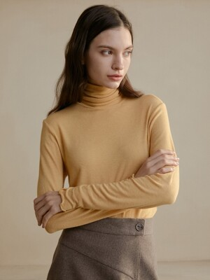 comos'301 basic  turtleneck-t (yellow)