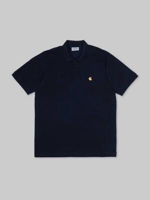 S/S CHASE PIQUE POLO_DARK NAVY/GOLD