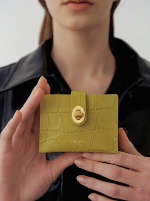 Roto wallet (Croc lime)