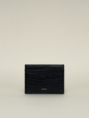 CLASSIC CARD CASE_LIZARD BLACK