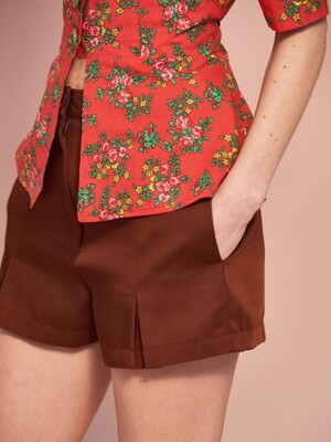 Pleat Short Pants(3col)