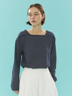 Camille Boat-neck T-Shirt_Dark Navy