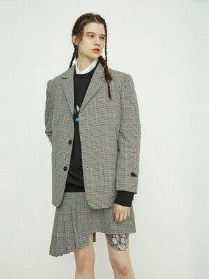 Oversized Check Jacket_QUJAX21110BRX