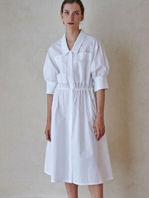 LOWNECK ONEPIECE_WHITE