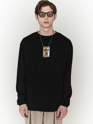[ ORDINARYPEOPLE X DISNEY ] PAINTER MICKEY BLACK SLEEVES