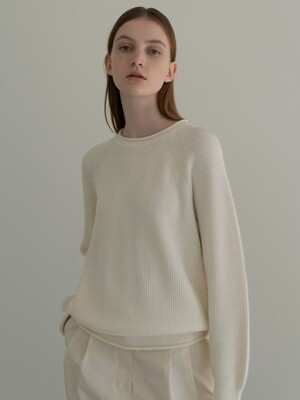 Hayes cotton jumper (Ivory)