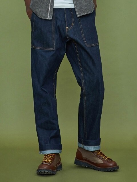[XTONZ] XP13 Selvage Fatigue Pants - Blue