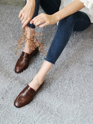 T005 penny loafer brown (1.5cm)