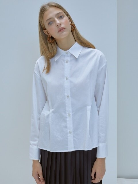 F ONE TUCK SHIRT_WH