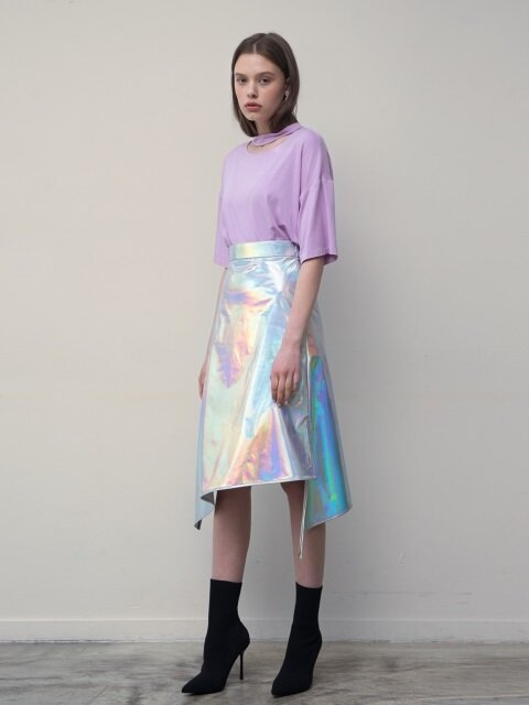 Asymmetric Skirt (Silver)
