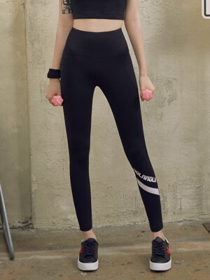 (LS-19164) ROLAROLA POCKET LEGGINGS BLACK