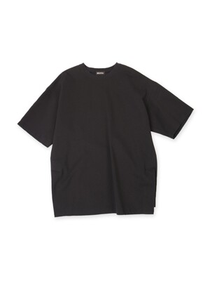 Oversized Big Logo Printed Tshirt Black (Genderless)