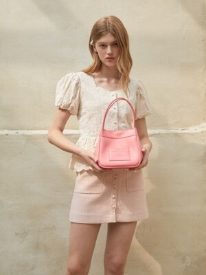 Mini card bucket bag - Pink