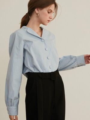 monts 976 puff sleeve single blouse (blue)