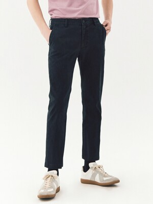 Slim-fit Stretch Cotton-Twill Washed Chinos_3color