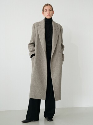 modern wool coat (grey)
