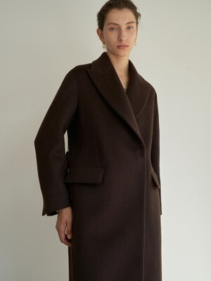 NTW PEAKED COLLAR LONG COAT 3COLOR